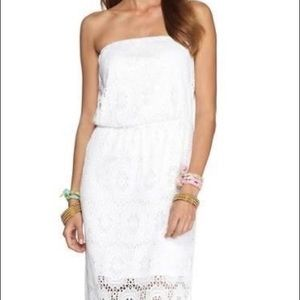 Lilly Pulitzer crocheted maxi dress. Size S